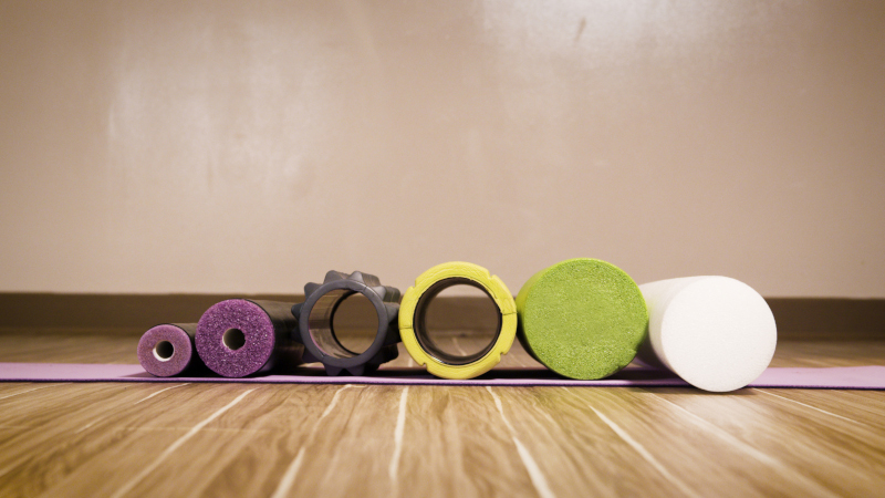 Comparison of different foam rollers from the front